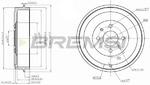 Тормозной барабан Bremsi DR5267