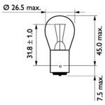 Лампа накаливания, фонарь указателя поворота Philips 13498CP