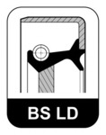 Уплотняющее кольцо, коленчатый вал (со стороны коробки передач) Elring 323.772