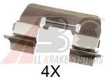 Комплектующие, колодки дискового тормоза A.b.s. 1668Q