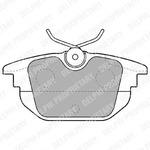 Комплект тормозных колодок, дисковый тормоз Delphi LP1472
