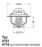 Термостат, охлаждающая жидкость Wahler 417479D