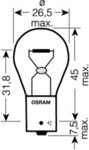 Лампа накаливания, фонарь указателя поворота Osram 7507