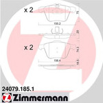 Комплект тормозных колодок, дисковый тормоз Zimmermann 240791851