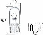 Лампа накаливания, стояночные огни / габаритные фонари Hella 8GP003594123