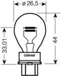 Лампа накаливания, фонарь указателя поворота Osram 3157