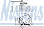Масляный радиатор, двигательное масло Nissens 90688
