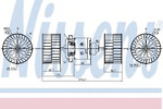 Вентилятор салона Nissens 87189