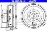 Тормозной барабан Ate 24022280181