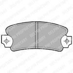 Комплект тормозных колодок, дисковый тормоз Delphi LP146