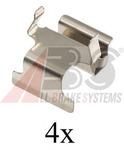 Комплектующие, колодки дискового тормоза A.b.s. 1673Q