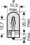 Лампа накаливания, фонарь указателя поворота Osram OS 2827_02B