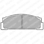 Комплект тормозных колодок, дисковый тормоз Delphi LP30