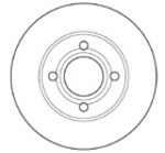 Тормозной диск (передний мост) Mapco 15707