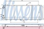 Радиатор, охлаждение двигателя Nissens 604201