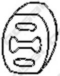 Резиновые полоски, система выпуска Bosal 255022