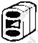 Резиновые полоски, система выпуска Bosal 255095