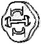 Резиновые полоски, система выпуска Bosal 255853
