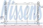 Радиатор, охлаждение двигателя Nissens 60029