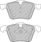 Комплект тормозных колодок, дисковый тормоз (передний мост) Ferodo FER FDB1898