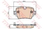 Комплект тормозных колодок, дисковый тормоз Trw GDB2066