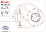 Тормозной диск Brembo 08.3089.10